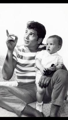 Michael Landon and son