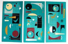 Gouache on Mat Board - 10 x 20 each - elgatogomezarts.com