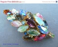 Cyber Monday Sale Juliana Brooch Leaf Art by 52ndstreetvintage, $55.20