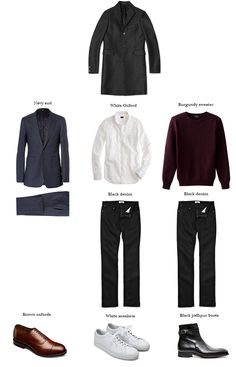Outfit ideas for three winter coats.