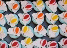 Hot Air Balloon Cupcakes - how to make them at RoseBakes.com