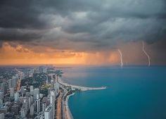 Lightning over Lake Michigan - Chicago, Illinois