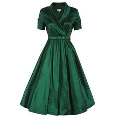 New party dress green skirts 59 ideas Emerald Green Cocktail Dress, Metallic Cocktail Dresses, Emerald Green Dresses, Metallic Dress, Pretty Dresses, Sexy Dresses, 1950s Dresses, New Party Dress, Wrap Around Dress