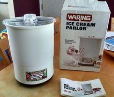 Vintage WARING Ice Cream Parlor Maker BOX & Manual Excellent Condition 11CF17 in Home & Garden | eBay