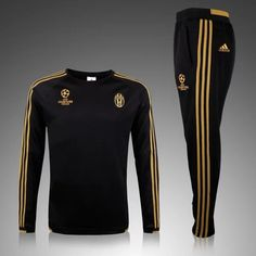 Juventus 2015/16 Champion League Men Black Tracksuit Slim Fit