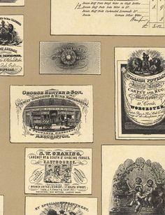 Trade Cards wallpaper from Lewis and Wood