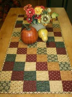 Autumn Patchwork Runner Kit by Main Street Cotton Shop, 18 x 39, Pattern Included.  This is my favorite source for fabric.  Very high quality fabrics that I cannot find anywhere else.