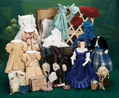 """French Bisque Poupee """"Suzanne Amaryllis"""" by Leontine Rohmer w/Signed Trunk & Trousseau"""