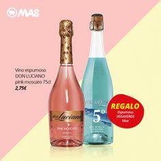 ¡Celebra que ya casi es fin de semana con el vino espumoso Don Luciano! Y llévate de regalo el espumoso Vegaverde Blue  #VinoEspumoso #Regalo #Oferta