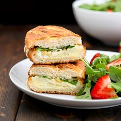 artichoke, arugula, and pine nut grilled cheese