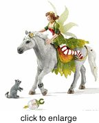 Schleich - Marween in Festive Clothes - Riding - click to enlarge
