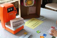 Jeu du postier avec lettres, carte postale, timbres et colis à imprimer