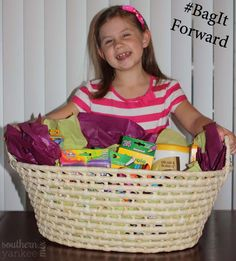 Back To School Supplies and an Art Teacher's #BagItForward Basket!
