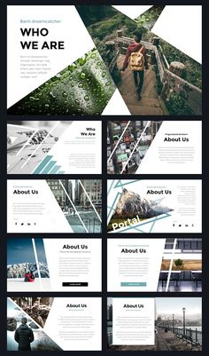 Portal Modern Powerpoint Template ~ Presentation Templates on Creative Market