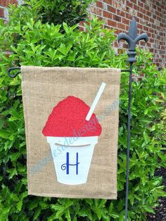 Personalized Snoball Garden Flag by SunnieSideDesigns on Etsy