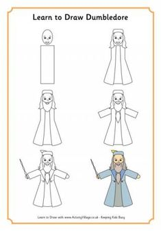 Learn to draw nine of your favourite Harry Potter characters with our fun printable step by step drawing tutorials for kids.
