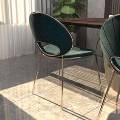 Black Pearl Dining Chair by ALMA de LUCE 3D model Luxury Chairs, Luxury Dining Room, Luxury Furniture, Modern Furniture, Contemporary Chairs, Modern Chairs, Dining Arm Chair, Dining Room Chairs, Metal Chairs