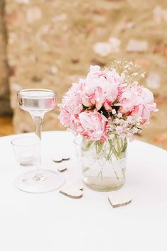 Wedding Decorations, Table Decorations, Baby Party, Pin Collection, Wedding Flowers, Glass Vase, Dream Wedding, Nadja, Weeding
