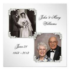50 anniversary card shower invitations | 50th Wedding Anniversary Photo Invitation Card | Zazzle.co.uk