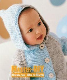 Вяжем жакет для малыша. Описание вязания спицами просто, но в тоже время красивого и удобного жакета.