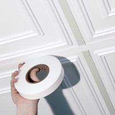 White Decorative Grid Tape for drop ceiling frames -- Have a dropped ceiling to spruce up in the basement...