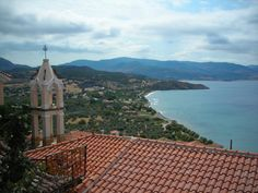 Church overlooking bay