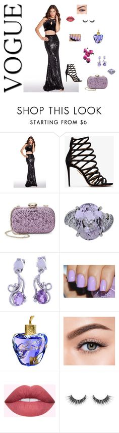 """Vogue Queen"" by newyorkdressonline on Polyvore featuring Alyce Paris, Aquazzura, Love Moschino, NOVICA, Lolita Lempicka, Morphe, Prom, vogue and PromQueen"