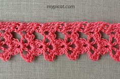 MyPicot is always looking for excellence and intends to be the most authentic, creative, and innovative advanced crochet laboratory in the world. Crochet Edging Patterns, Crochet Bikini Pattern, Crochet Lace Edging, Crochet Borders, Crochet Flowers, Crochet Chain, Crochet Bracelet, Free Crochet, Crochet Curtains