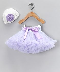 Take a look at this Lavender Pettiskirt & Crochet Beanie - Infant by AdoraBelle Pettiskirts on #zulily today!