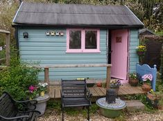 Sheds transformed to look like castles, warships and even a beach ...