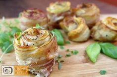 Kartoffelrosen mit Bacon - RezeptVideos.com