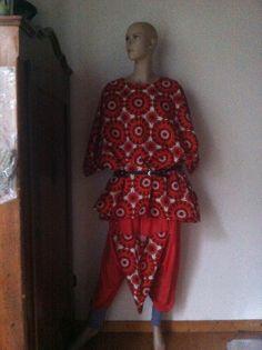 cooler Anzug, Haremshose+Oversized Tunika,44-52