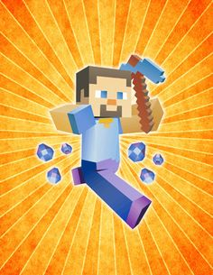 Minecraft Steve Character inspired POSTER