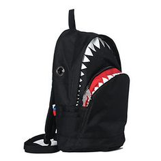 YESSTYLE: Morn Creations- Shark Backpack (L) (Black - L Size) - Free International Shipping on orders over $150
