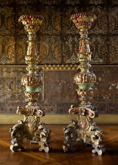 Pair of Chancel Candlesticks Italian, 17th century Painted and gilded wood, 255.5 x 79 cm  © Isabella Stewart Gardner MuseumКаждый выбирает для себя. oddmuse