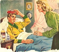 ...recovering from shock therapy ,1950's, advertising, magazines,