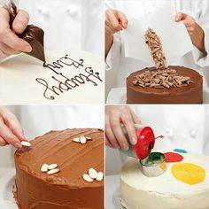 Ahead are some easy techniques for decorating cakes that don't require special equipment or professional experience. Description from popsugar.com. I searched for this on bing.com/images