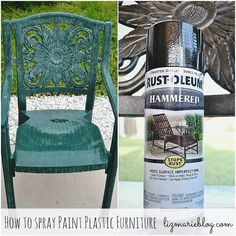 Painting Plastic Furniture On Pinterest Paint Plastic