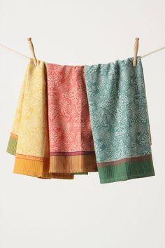 Tapeçaria toalhas de prato - anthropologie.com