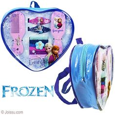 11 PIECE DISNEY'S FROZEN BEAUTY SET MINI BACKPACKS. Sets include 5 covered elastics, 2 hair clips, 1 comb and 1 mirror, all in an adorable mini backpack. Backpack has zipper closure. Each strap adjusts from 10 - 18 inches.  Sizes 2 - 4.5 Inches, backpack 7 X 7 Inches