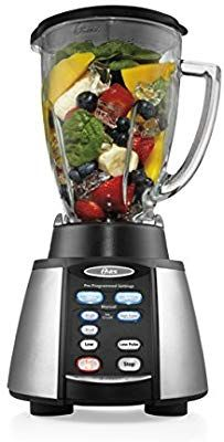 Amazon Com Oster Reverse Crush Counterforms Blender With 6 Cup Glass Jar 7 Speed Settings And Brushed Stainless Steel Blender Best Blenders Smoothie Recipes