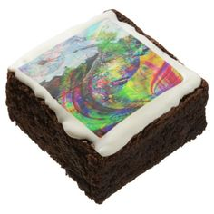 Abstract Tropical Fantasy Brownie - kitchen gifts diy ideas decor special unique individual customized