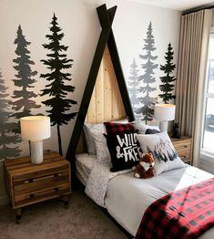 Bedroom Themes, Kids Bedroom, Bedroom Decor, Bedroom Ideas, Boys Bedroom Furniture, Woodland Bedroom, Woodsy Bedroom, Winter Bedroom, Woodsy Nursery