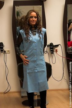 Nylons, Blouse Nylon, Beauty Uniforms, Hairdresser, Smocking, Chef Jackets, Hair Care, Overalls, Hair Beauty