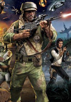 Renegade Squadron Commandos and Han Solo at war