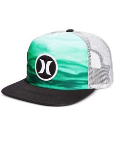 Hurley Men s Block Party Flow Graphic-Print Snapback Hat Hurley Snapback a3481f56bff