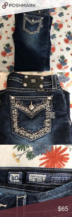 Miss me signature boot! Miss me signature boot cut! Worn one time! Excellent condition! Miss Me Jeans Boot Cut