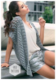 New Crochet Summer Vest Pattern Cardigan Sweaters Ideas Crochet Vest Pattern, Crochet Cardigan Pattern, Crochet Jacket, Crochet Shawl, Free Pattern, Crochet Patterns, Crochet Shrugs, Knitting Patterns, Crochet Tutorials
