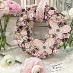 Spring Door Wreaths, Floral Wreath, Shabby Chic, Easter, Handmade, Color, Home Decor, Garland, Flowers