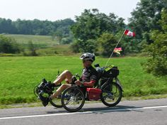 80 year old man crosses Canada by recumbent bicycle